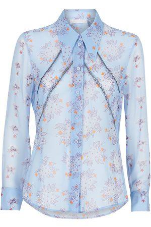 Chloé Damen Shirts - Floral-print semi-sheer shirt