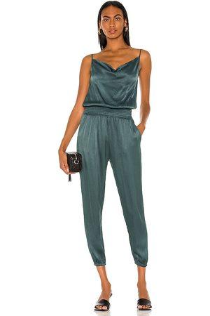 Bobi BLACK Sleek Textured Jumpsuit in . Size XS, S, M.
