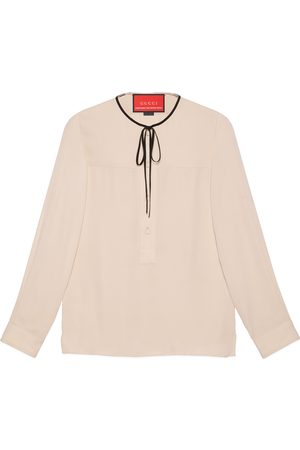Gucci Herren Hemden - 2015 Re-Edition hemd aus Seiden-Crêpe