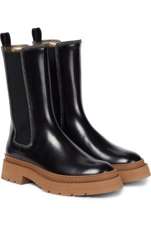 Brunello Cucinelli Ankle Boots aus Lackleder