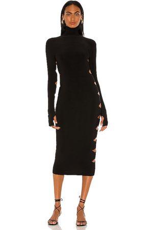 Norma Kamali Damen Kleider - Long Sleeve Alligator Turtle Dress in . Size XS, S, M.