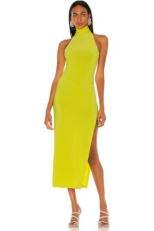 Norma Kamali Halter Turtle Side Slit Gown in . Size XS, S, M.