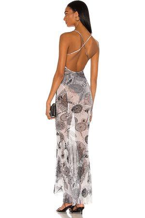 Norma Kamali Fishtail-Abendkleid mit Schleppe und tiefem Rückenausschnitt in . Size XS, S, M.