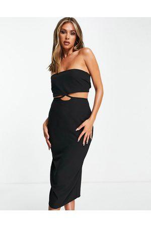 Vesper – Trägerloses Bodycon-Kleid in mit Zierausschnitt
