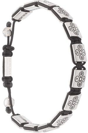 Nialaya Herren Armbänder - Armband mit Perlen - Metallisch