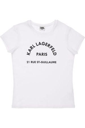 Karl Lagerfeld T-shirt Aus Bio-baumwollmischung Mit Logo
