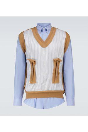 Maison Margiela Hemd aus Baumwollpopeline und Schurwolle