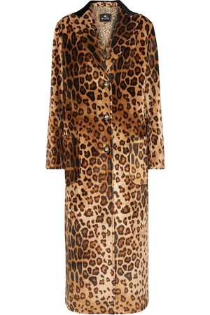 Etro Damen Mäntel - Bedruckter Mantel aus Samt