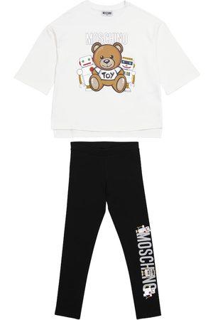 Moschino Set aus T-Shirt und Leggings aus Stretch-Baumwolle