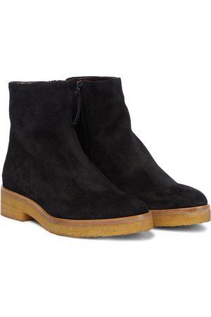 The Row Ankle Boots Boris aus Veloursleder