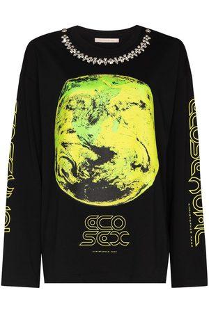 Christopher Kane Ecosexual crystal long sleeve t-shirt