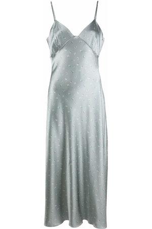 12 STOREEZ Damen Bedruckte Kleider - Floral-print slip dress