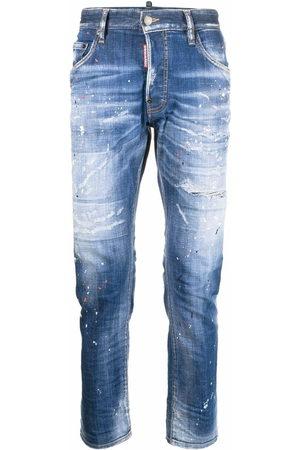 Dsquared2 Distressed-Jeans mit Farbklecksen