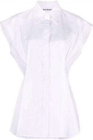 Acne Studios Damen Shirts - Cotton sleeveless shirt