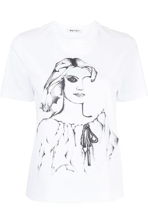 PORTS 1961 Damen Shirts - Graphic-print cotton T-Shirt
