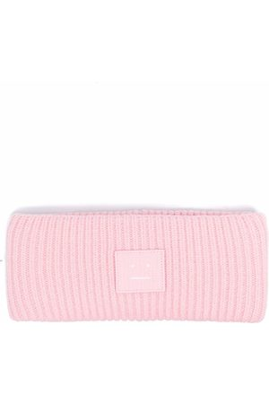 Acne Studios Hüte - Ribbed-knit logo patch headband