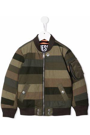 Diesel Sommerjacken - Striped Patchwork bomber jacket