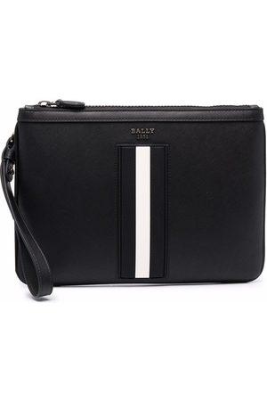 Bally Herren Kulturbeutel - Leather striped wash bag