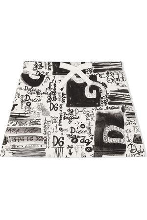 Dolce & Gabbana Mädchen Bedruckte Röcke - Rock mit Graffiti-Print