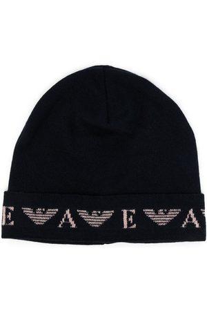 Emporio Armani Fein gestrickte Mütze mit Logo