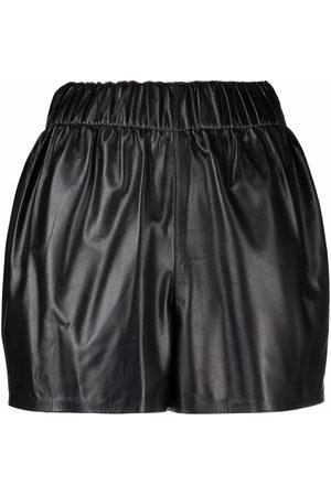 Manokhi Damen Shorts - Shorts aus Leder