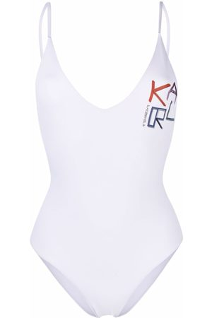 Karl Lagerfeld Damen Badeanzüge - Logo print swimsuit