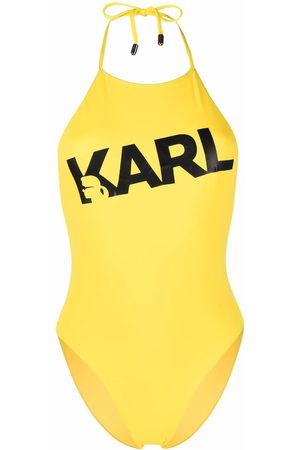 Karl Lagerfeld Logo print swimsuit