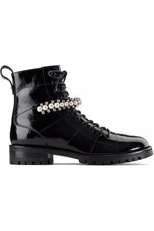 Jimmy Choo Damen Stiefeletten - Cruz pearl-embellished boots
