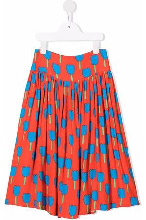 Stella McCartney Kids Floral-print pleated skirt