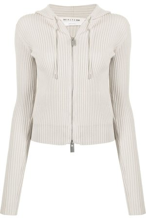 1017 ALYX 9SM Damen Sweatshirts - Ribbed-knit drawstring hoodie - Nude