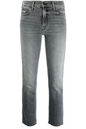 Mother Damen Straight - Halbhohe Cropped-Jeans