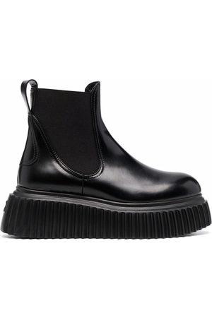 AGL ATTILIO GIUSTI LEOMBRUNI Damen Stiefeletten - Malisa leather chelsea boots - NERO-NERO (1013)