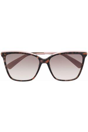 Longchamp Damen Sonnenbrillen - Tortoiseshell-effect square sunglasses