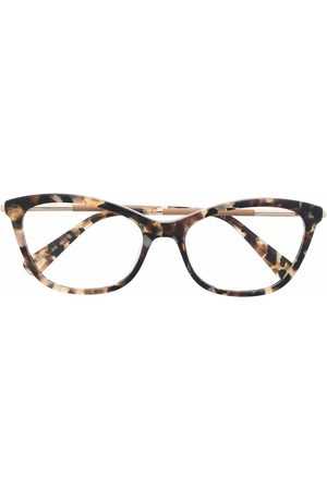 Longchamp Cat-eye frame tortoiseshell glasses - Nude