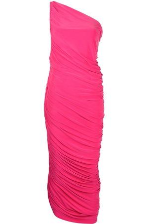 Norma Kamali Damen Asymmetrische Kleider - One-shoulder draped dress