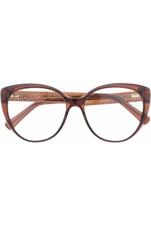 Longchamp Cat-eye frame logo-arm glasses