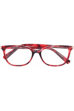 Longchamp Eckige Brille in Schildpattoptik