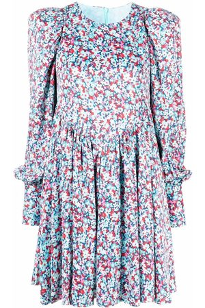 ROTATE Damen Freizeitkleider - Midikleid mit Blumen-Print