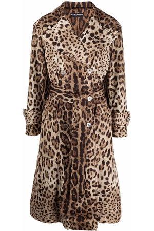 Dolce & Gabbana Mantel mit Leoparden-Print