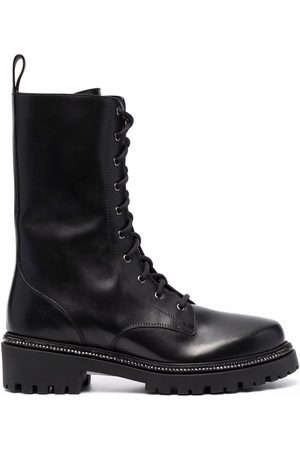 RENÉ CAOVILLA Damen Stiefeletten - Rhinestone-embellished combat boots