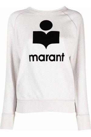 Isabel Marant Logo-print crew-neck sweatshirt - Nude