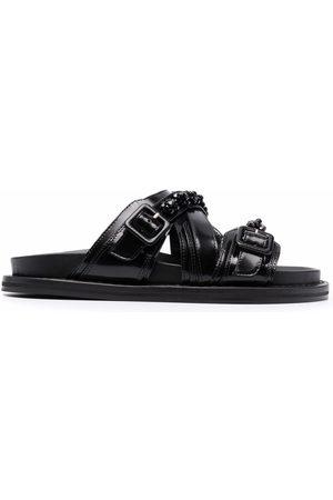 Simone Rocha Damen Sandalen - Embellished leather sandals
