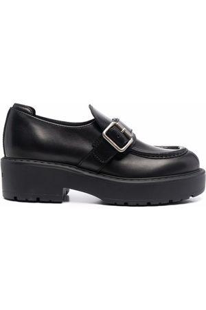 Miu Miu Buckle-detail leather loafers