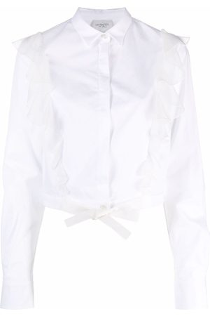 Giambattista Valli Floral-lace detail silk skirt