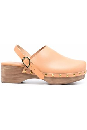 Ancient Greek Sandals Classic Closed 70mm leather clogs - Nude