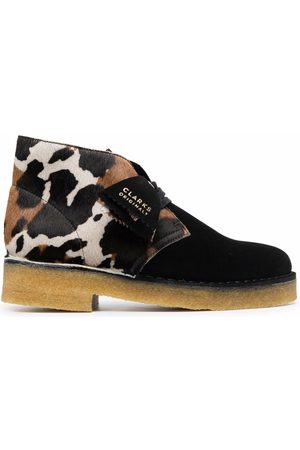 Clarks Damen Stiefeletten - Animal-print leather ankle boots