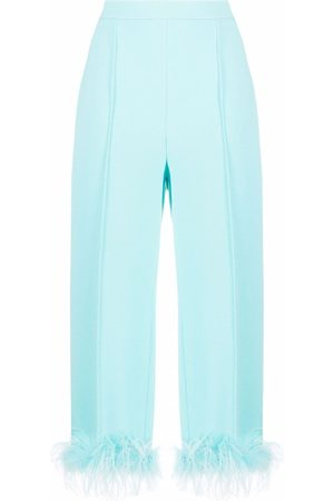 Styland Damen Hosen & Jeans - Feather-detail cropped trousers