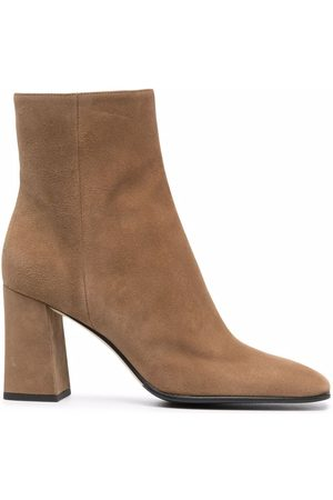 Sergio Rossi 80mm block-heeled ankle boots - Nude