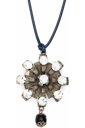 Dior 1980s pre-owned large rhinestone-embellished pendant necklace