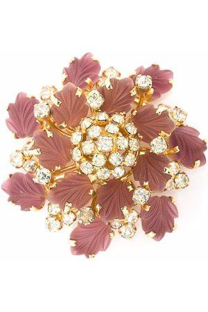 Dior Damen Broschen - 1980s pre-owned rhinestone-embellished flower brooch